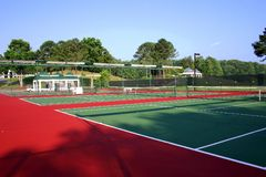 Tennis Court. At Georgia resort stock photo