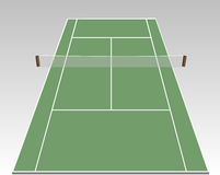 Tennis court. A stylized tennis court showing all relevant lines Stock Images