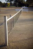 Tennis Court. View of Tennis Court and net, deliberate very shallow depth of field Royalty Free Stock Images