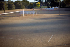 Tennis Court. View of Tennis Court and net, deliberate very shallow depth of field Royalty Free Stock Photography