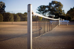 Tennis Court. View of Tennis Court and net, deliberate very shallow depth of field Royalty Free Stock Photo