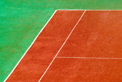 Tennis court. View to the tennis court Royalty Free Stock Photos