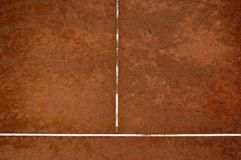 Tennis court. Clay tennis court photographed from above royalty free stock photos