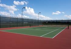 Tennis Court. Full Tennis Court and Net Stock Photos