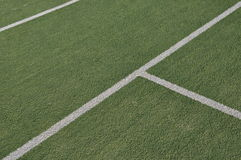 Tennis court. White lines on an outdoor tennis court (artificial grass Royalty Free Stock Image