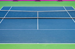 Tennis court. Image of empty tennis court for backgrounds. Surface: Hard Stock Images