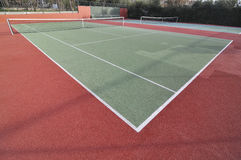 Tennis Court. Wide angle view of a tennis court Royalty Free Stock Photography