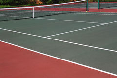 Tennis Court. And balls in sunny day Stock Photography