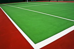 Tennis court. The green hard tennis court Stock Images