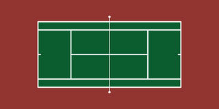 Tennis Court. Vector Illustration of Tennis Court (Hard Court Stock Photography