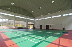 Tennis court. China's badminton hall a leisure Stock Photo