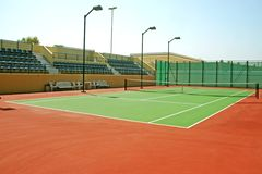 Tennis court. A tennis court in Sharjah club Stock Image