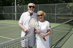 On the Tennis Court Stock Image