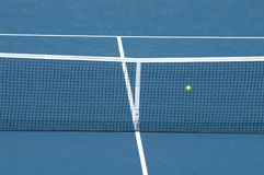 Tennis court. And tennis ball royalty free stock photography