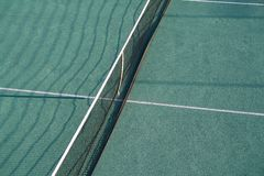 Tennis court. Ariel view of tennis court net stock photography