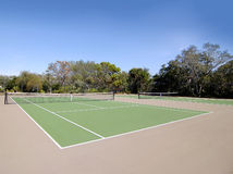 Tennis Court. A set of two Brand new empty tennis courts Stock Photos
