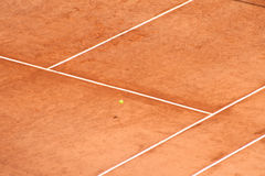 Tennis Court. View of the Tennis Court Royalty Free Stock Photo