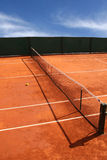 Tennis Court. View of the Tennis Court Royalty Free Stock Photos