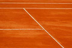Tennis court. A simple background with mud tennis court Stock Images