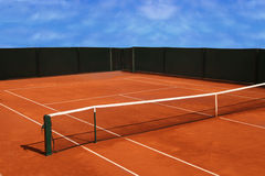 Tennis court. View of the Tennis Court Royalty Free Stock Image