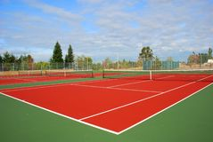 Tennis Court. A Trio of Tennis Courts Stock Photo