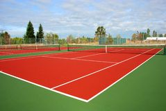 Tennis Court. Ready of play on tennis courts Stock Image