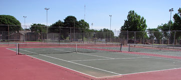 Tennis Court. S at a park Stock Photo