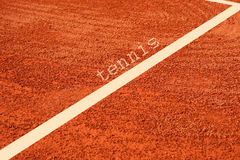 Tennis court. Base line on tennis court Stock Image