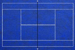 Tennis court background. Top view of realistic textured tennis court background Stock Photo