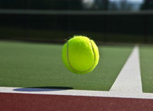 Tennis court and ball Stock Images