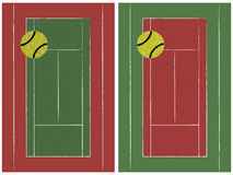 Tennis court and ball Royalty Free Stock Images