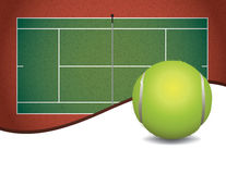 Tennis Court and Ball Background Illustration Stock Photos