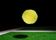 Tennis court and ball drop Stock Image