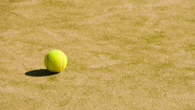 Tennis court  with balls Stock Images