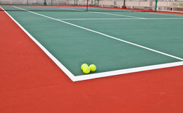 Tennis court at base line Royalty Free Stock Photo