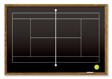 Tennis court blackboard Royalty Free Stock Images