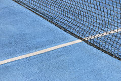 Tennis court blue Royalty Free Stock Photography