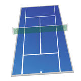 Tennis court blue color vector illustration Royalty Free Stock Images