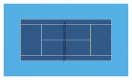 Tennis court. Blue colors Royalty Free Stock Images