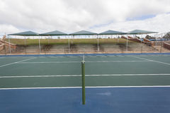 Tennis Court Blue Green Stock Photo