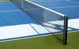 Tennis court. Blue and green tennis court. Sport background Royalty Free Stock Photography