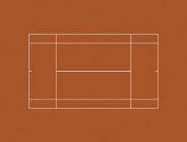 Tennis Court Clay Layout Royalty Free Stock Photos
