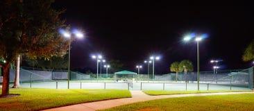A tennis court in a club house