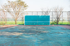 A deserted tennis court Stock Photography
