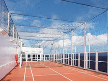 The Tennis Court on a Cruise Ship Stock Photo