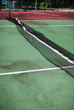 Tennis court in disrepair Royalty Free Stock Images