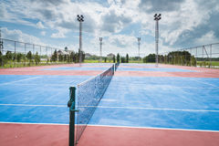 Tennis court. Empty in countryside Royalty Free Stock Image