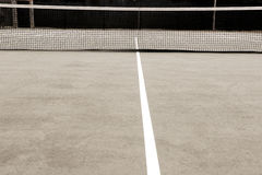 Tennis court. Empty tennis court with white line Stock Image