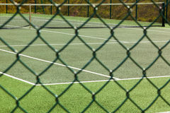 Tennis Court Fence Royalty Free Stock Images