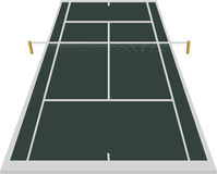 Tennis court field. In dark blue color Stock Photos